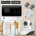3G Signal WiFi Alarm System Wireless GSM Home Security Alarm System IOS Android APP Control IP Camera Door Close Reminder