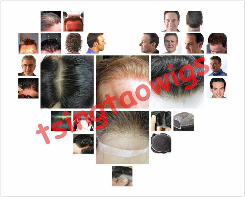 """Trwała peruka damska z cienką skórą 12-14, tupecik dla mężczyzn 8X10 """"V loop/knot, wstrzykiwane repacement włosów, proteza włosów darmowa wysyłka"""