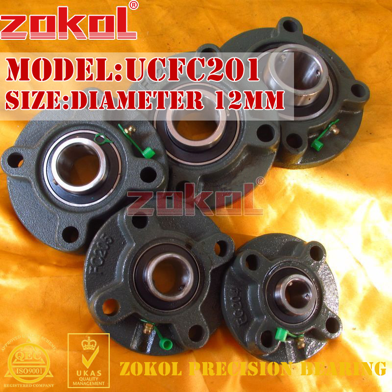 ZOKOL bearing Flange Cartridge Bearing Units UCFC201 TY90501Y Pillow Block Ball Bearing diameter 12mm редакция газеты твой день твой день 172 2015
