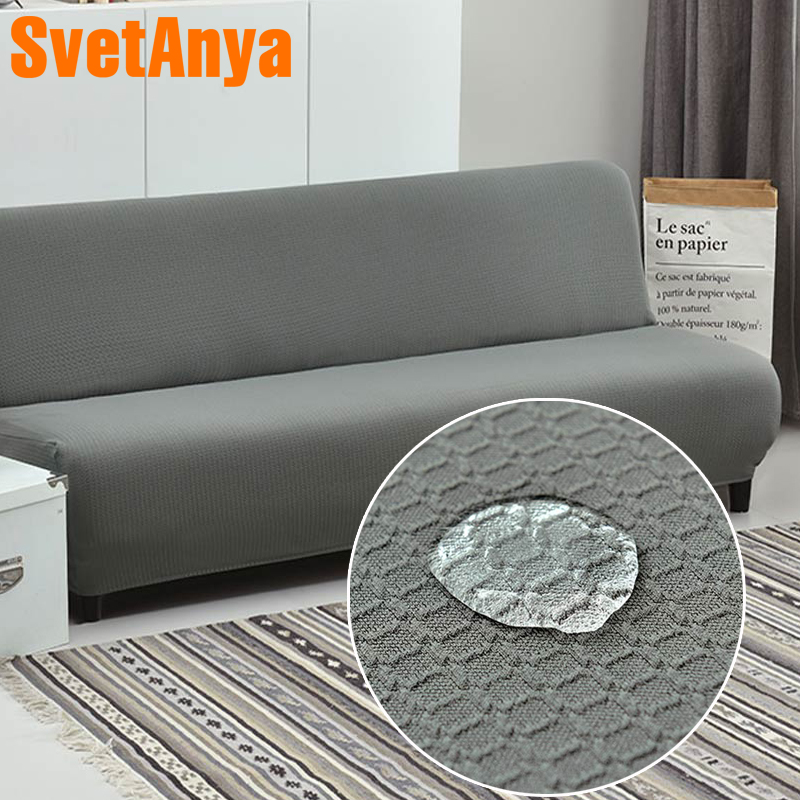 Svetanya Waterproof Slipcover for Sofa Bed Without Armrest Fold Sofa Cover studio couch