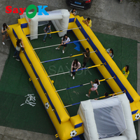 Giant inflatable soccer field human table football inflatable table playground outdoor sports game inflatable foot snooker ball
