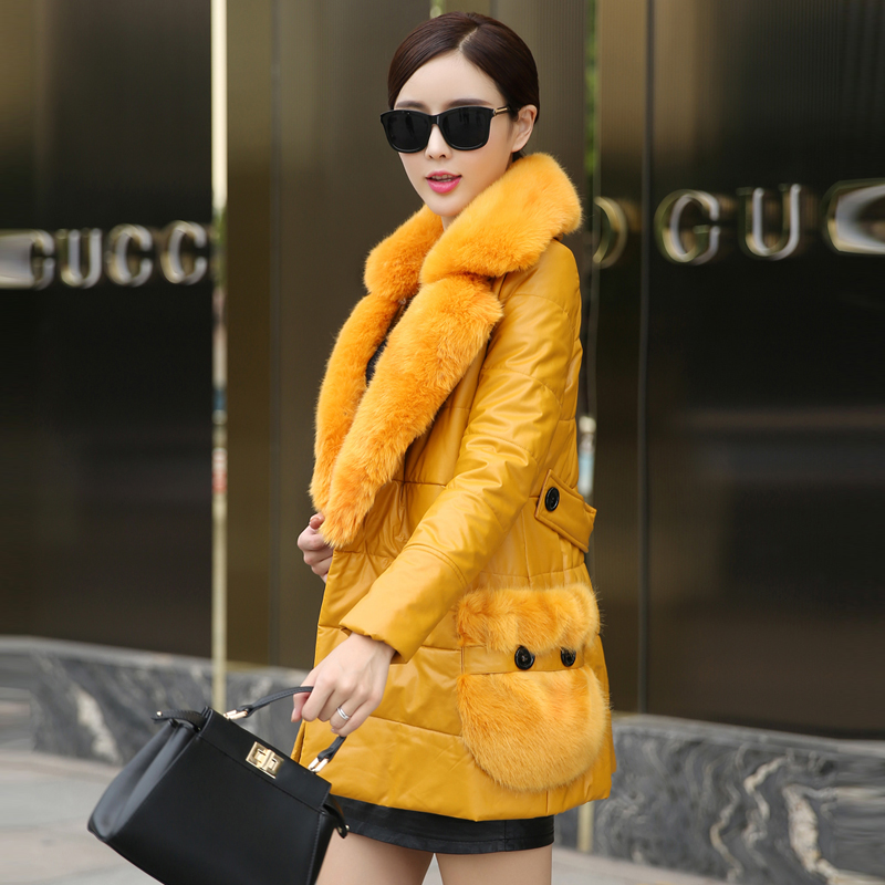 Luxury Winter Fur Coat Women 2015 Women Fur Collar Thicken Down Jackets Fashion Ladies Slim Long Wadded Parkas Outerwear H5526 2015 hot new winter thicken warm woman down jacket coat parkas outerwear hooded fox fur collar luxury long brand plus size 2xxl