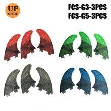 surf Upsurf Logo FCS Fins G5, G3  Surfboard Fin Honeycomb Fibreglass Quilhas