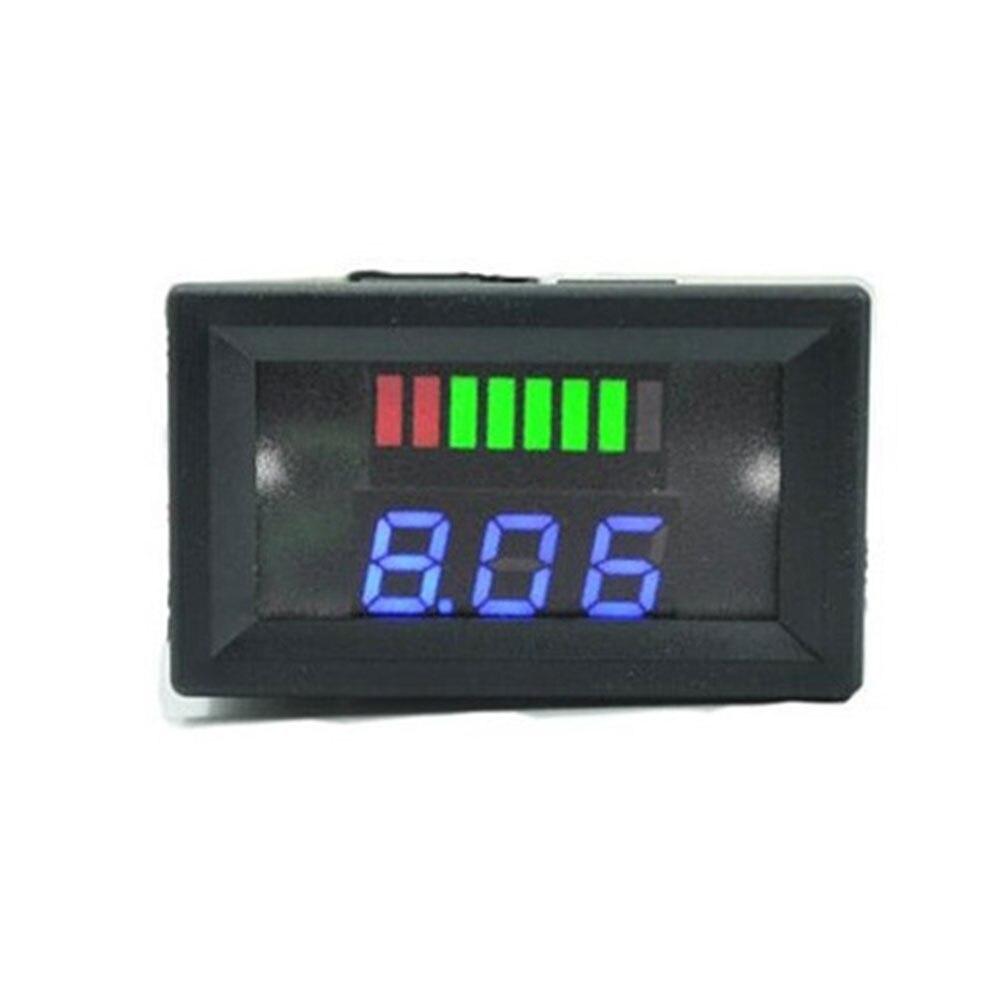 12 В/24 В свинцово-кислотный дисплей батареи Вольтметр Счетчик Электроэнергии Измеритель с цифровым дисплеем точный индикатор уровня заряда транспортного средства - Цвет: Blue for 12V