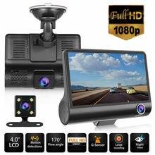 Car Camera  Full HD 1080P 4 inch 3 Lens Vehicle Camcorder DVR Dash Cam Night Vision/G-sensor