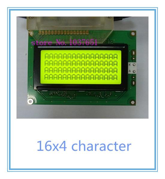 Free shipping 2pcs Russian cyrillic Font Language 1604 16X4 character lcd display module green LCM green 5v
