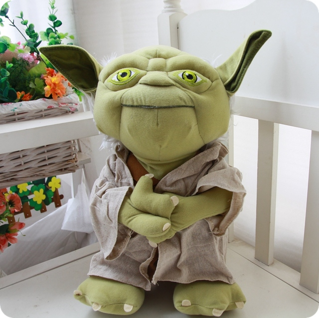 Star Wars Plush Yoda Peluche Plush Toys Stuffed Doll Toys Star Wars Master Yoda Cartoon Yoda Soft Toys Big Size  Height 35cm