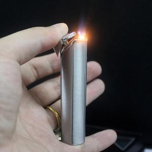 Image 2 - Nuova Striscia Torcia Accendino Antivento Diamante Jet Turbo Tubo di Metallo Leggero Allaperto Cigar 1300 C Butano In Acciaio Inox Finestra di No gas