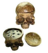 Tattoo Accessories Skull Head 7 Holes Hard Resin Tattoo Ink Cup/Caps Holder Tattoo Ink Cup Holder Tattoo Accessory