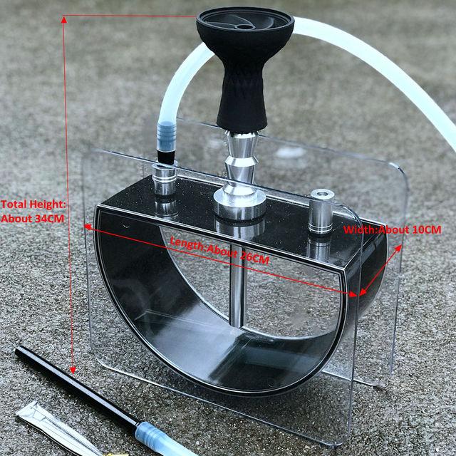 Water Pipe Hookah Set Acrylic Shisha With Silicone Bowl 3