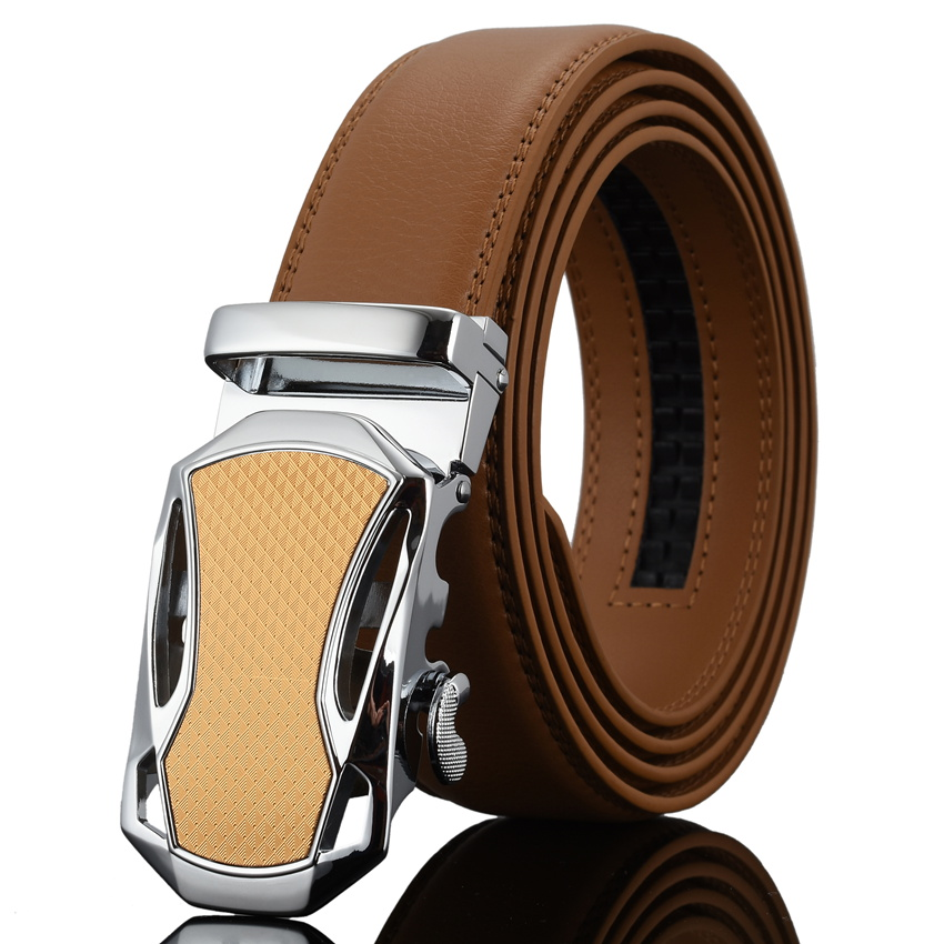 WOWTIGER pria Mode Otomatis Gesper Kulit mewah Man cinturones hombre - Aksesori pakaian - Foto 5