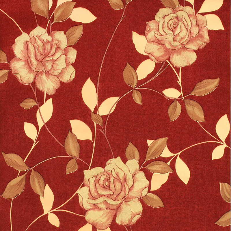 Luxury Gold 3D Rose Wallpaper Romantic Floral Background For Bedroom And Living Room Mural Wall Paper Gray Brown In Wallpapers From Home