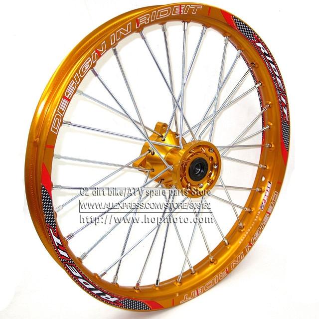 "1.60x 17 inch Front Rims CNC hub Aluminum Alloy Wheel Rims 1.60 x 17""inch for KLX CRF KTM Kayo Apollo BSE Pit Bike Dit Bikecnc hubhub rimcnc rim"
