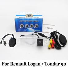 Для Renault Logan/Тондар 90 2004 ~ 2016/RCA AUX Провода Или беспроводной/HD Широкоугольный Объектив/CCD Ночного Видения Заднего Вида камера