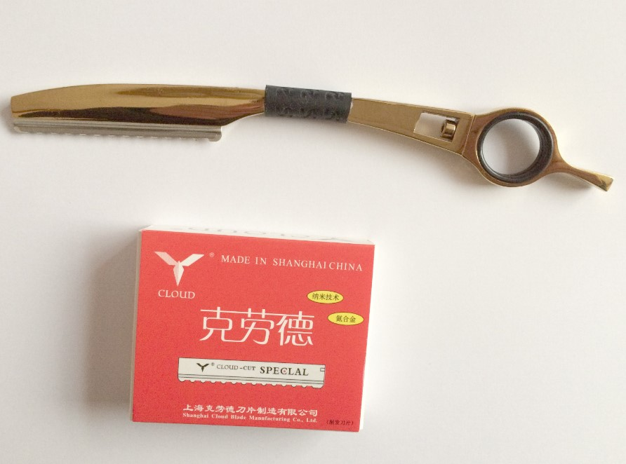 Top Quality Professional Hair Razor Hair Thinning Raozr With 10 Pieces Of Blade