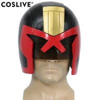 Coslive 2019 Halloween Cosplay Judge Dredd Helmet Full Head Dredd COSplay Racing Mask Halloween Prop Judge Dredd Cosplay Helmet