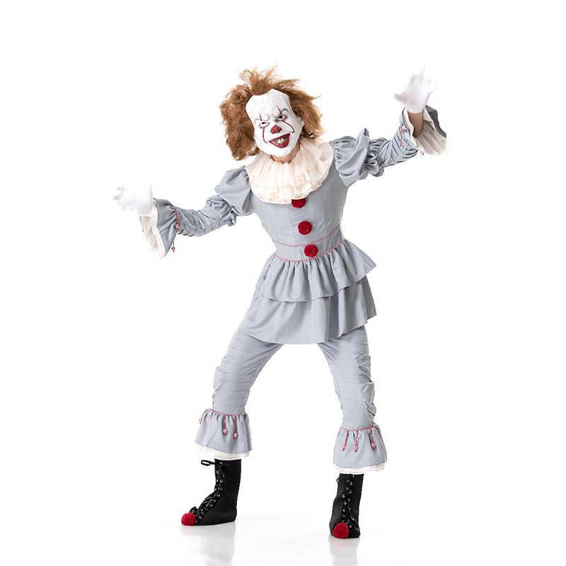 Traje de Halloween Cosplay Roupas Roupas Masquerade Carnaval Festival Fantasma Horror Palhaço Pennywise Role Playing Trajes Homens