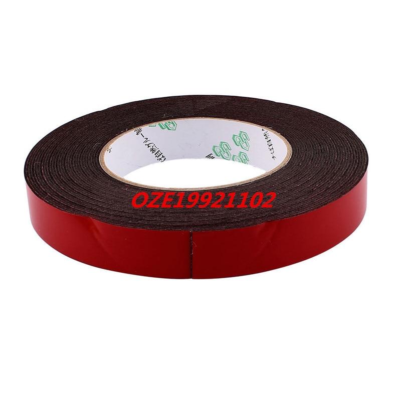 20mmx1mm Dual Sided Sponge Tape Adhesive Sticker Foam Glue Strip Sealing 33Ft 15mm x 2mm dual sided self adhesive shockproof sponge foam tape 5m length