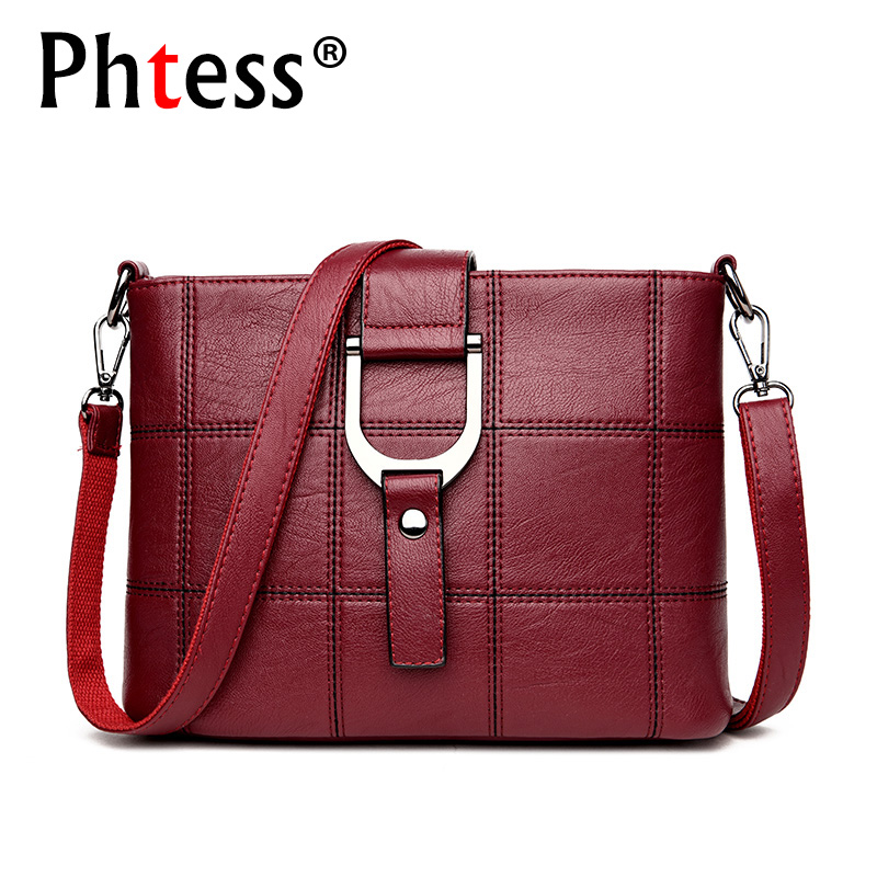 PHTESS Luxury Plaid Handbags Women Bags Designer Brand Female Crossbody Shoulder Bags For Women Leather Sac a Main Ladies Bag famous brand handbags women shoulder bag designer plush ball chain leather bag small crossbody bags for women sac a main