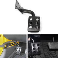 Black Metal Car Dead Pedal Left Side Foot Rest Kick Panel Pedals For Jeep Wrangler JK 2007-2015 Automobile Interior Accessories(China)