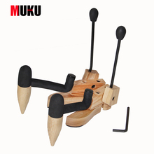 ukulele & violin stand innovative natural wood non-skid bast construction suits most sizes of ukes & violins