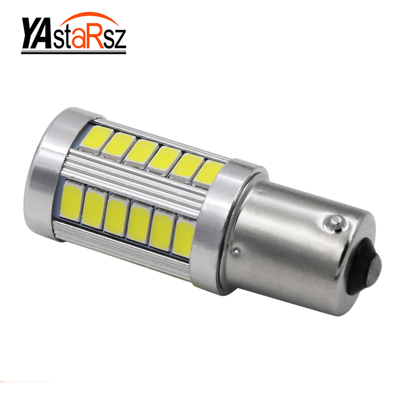 1156 P21W BA15S 7506 Super brightness 33 SMD 5630 5730 LED auto brake lights fog lamp reverse Bulb car daytime running light 12V 1x car led t20 7443 w21 5w 33 led 5630 5730 smd auto brake lights fog lamp reverse light car daytime running lights red white