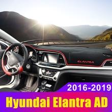 купить Car Dashboard Cover Mat Dashmat Sun Shade Carpet Anti-UV LHD For hyundai Elantra MD AD 2011-2015 2016 2017 2018 2019 Accessories дешево