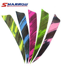 60 Pcs Arrow Feather 6 Colors Turkey 4 Inch Archery Accessories Hunting Shooting
