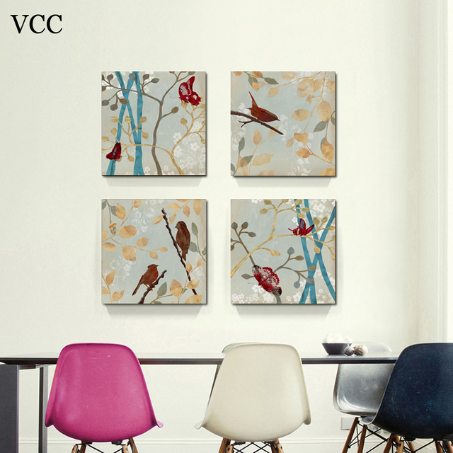 VCC bird wall art canvas paintings on the wall pictures for living