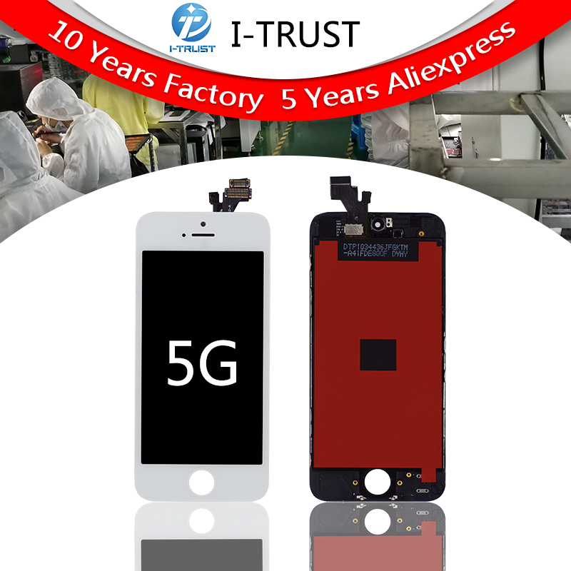 20PCS LOT AAA Quality LCD Screen Display Digitizer Assembly For iPhone 5 LCD Display Black White