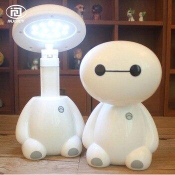 Lámpara Led de escritorio moderna de dibujos animados para niños, dormitorio, mesita de noche, decoración de arte de doblar, lámpara de noche con enchufe de ee.uu. para regalo