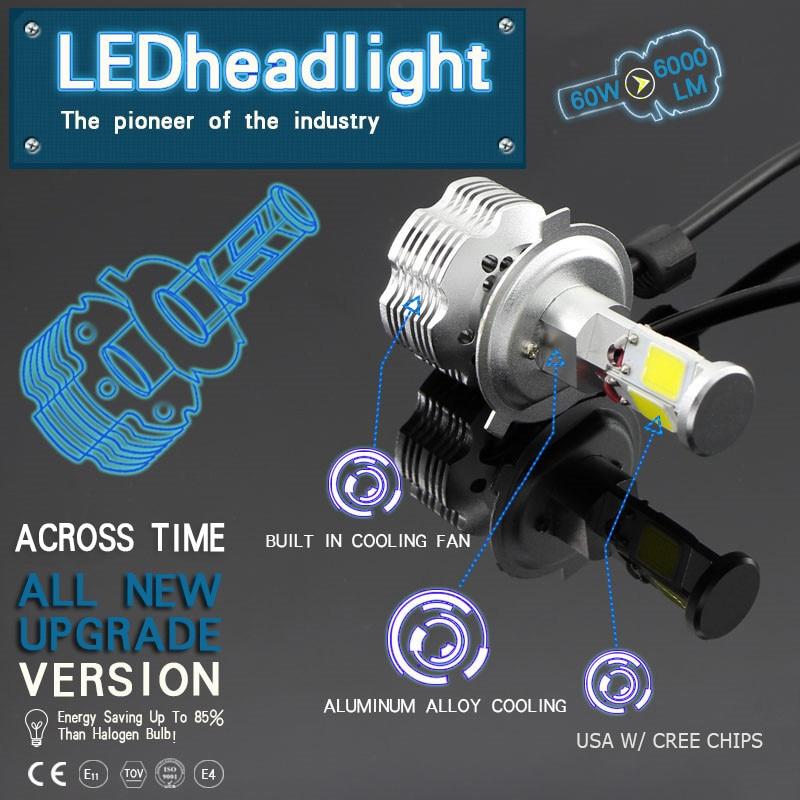 1 Set 120W 12000LM w/ COB Chips Car LED Headlight Kit Bulb Fog Light H4 H7 H8 H9 H11 9004 HB1 9005 HB3 9006 HB4 9007 HB5 9008