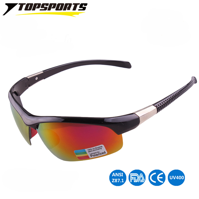 3707179ce1 TOPSPORTS Sport Men Eyeglasses UV400 eye protected polarized sun glasses  Metal Polaroid women cycling Sunglasses Drivin Eyewear