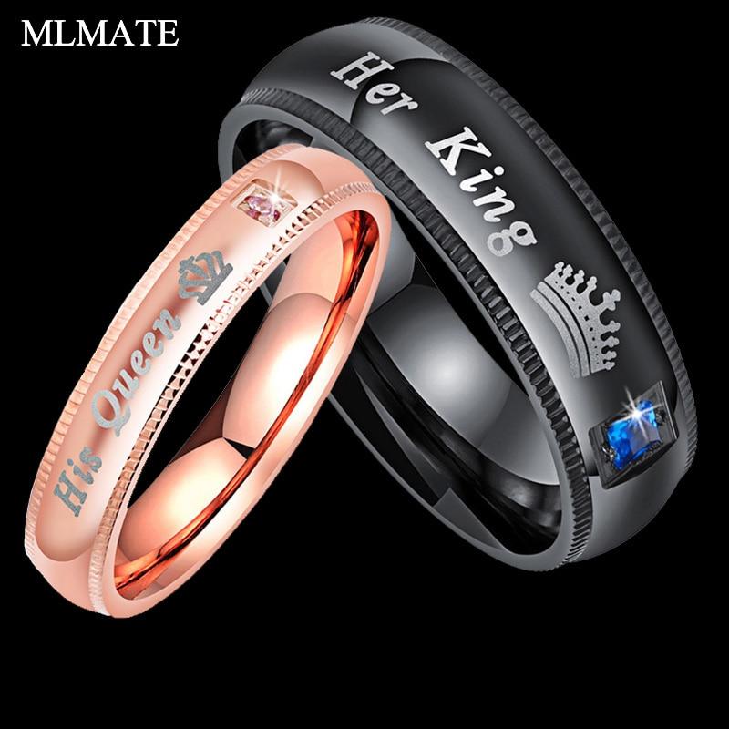 Pár Gyűrűk A király és az ő királynője Rozsdamentes acél - Divatékszer