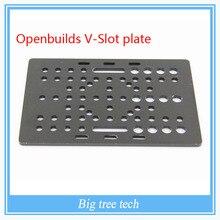 Openbuilds чпу части Для v-slot универсальный пластина из алюминиевого сплава Козловой Плиты V Слот Алюминиевые Линейные Экструзии c-луч