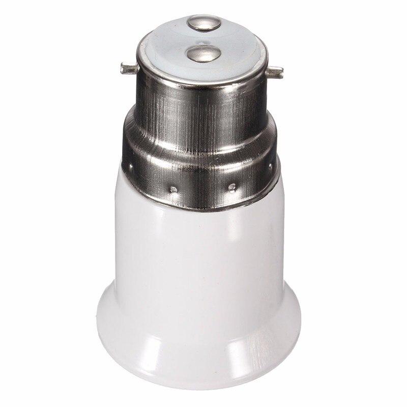 B22 to E27 Base LED Light Lamp Bulb Fireproof Holder Adapter Converter Socket Change