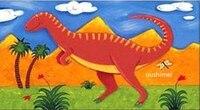 Картина маслом ручной работы украшения дома живопись на холсте мультфильм животных Wall Art Прекрасный динозавров для детской комнаты