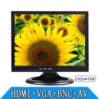 14.1 inch BNC AV HDMI VGA industrial security LCD monitor High definition computer monitors