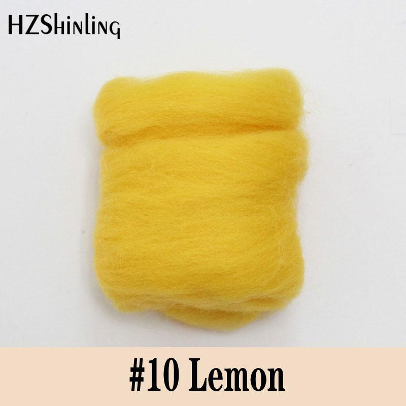 5 G Super Soft Warm Felting Short Fiber Wool Perfect In Needle Felt And Wet Felt Lemon Color