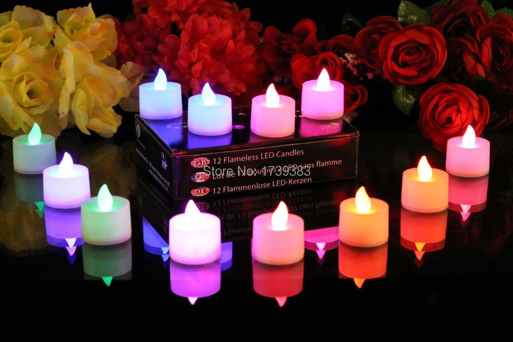 20pcs lot Wick LED Flameless Candle Light Romantic creative Voice Control Electronic Flickering Tea Light for Propose decorated in LED Night Lights from Lights Lighting