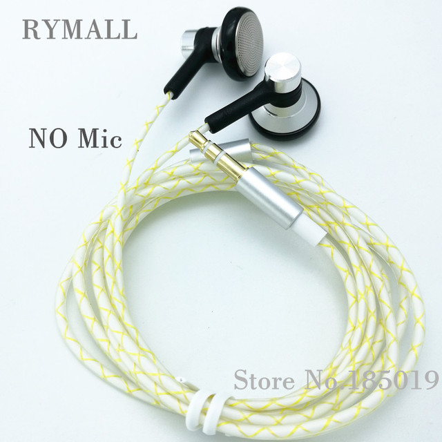 RY04 original in-ear Earphone metal  15mm music  quality sound HIFI Earphone (IE800 style cable) 3.5mm stereo dynamic headphones