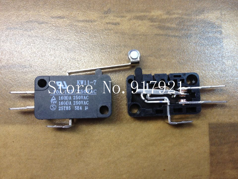 [ZOB] Silver contact micro switch KW11-7 long round trip switch --50pcs/lot