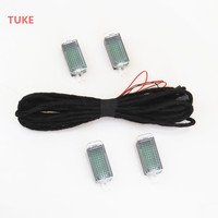 LED Footwell Light Interior Foot Lamp Connection Cable Harness For VW Golf Jetta Passat A4 A6