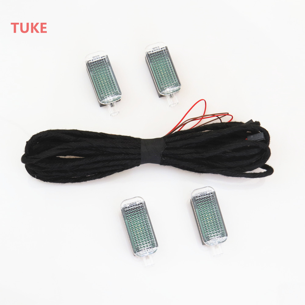 TUKE LED Footwell Light Interior Foot Lamp Connection Cable Harness For VW Golf Jetta Passat A4 A6 Q3 Q5 Seat Lean 3AD 947 409 jeazea glove box light storage compartment lamp 1j0947301 1j0 947 301 for vw jetta golf bora octavia 2000 2001 2002 2003 2004