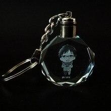 Fancy&Fantasy Anime YURI on ICE Yuri Katsuki Plisetsky Victor Nikiforov Crystal LED Light Pendant Keychain Cosplay