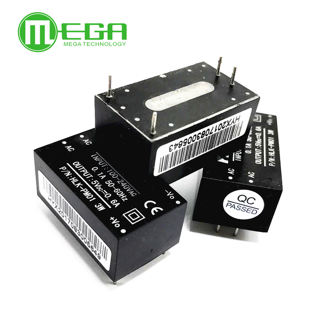 5pcs HLK-PM01 AC-DC 220V to 5V Step-Down Power Supply Module Intelligent Household Switch Power Supply Module