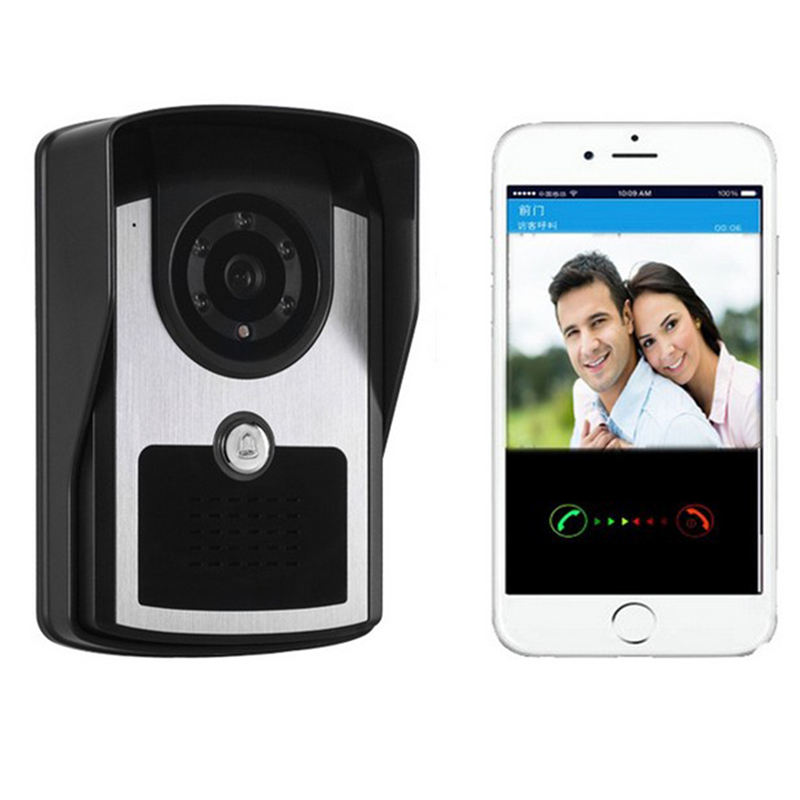 Door Camera 720P Wireless Video Door Phone Intercom System Night Vision IR Motion Detection Alarm For IOS Android WIFI Doorbell kinco wifi remote control night vision video doorbell hd waterproof dtmf motion detection alarm smart home for smartphone