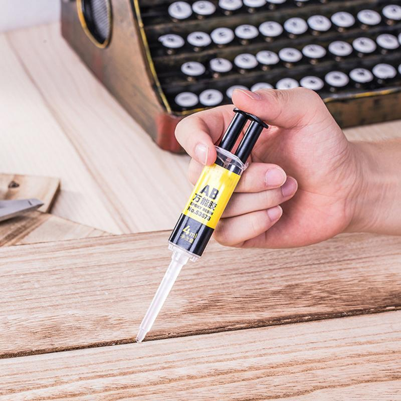 2 Minutes Curing Reliable Adhesive Glue Waterproof Firm Adhesive Universal 4ml AB Glue Stationery Long-lasting Super Liquid