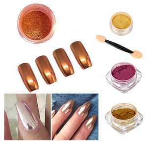 Image 4 - Nail Art 1PC  Powder Art Decoration Sexy Rose Gold Mirror Chrome  Nail Art Accessories 2018 Oct12