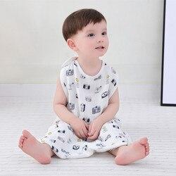 Dziecko muślin śpiwór muślin śpiwór dla dziecka dzieci dzieci toddle beddingBaby Saco De Dormir Para Bebe worki Sleepsacks